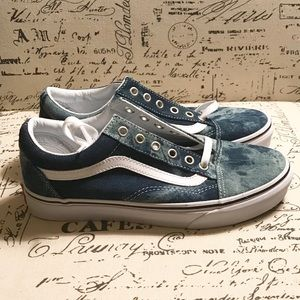 d79bb1328ffcd3 Vans Shoes - Vans Old Skool Skate Shoe acid denim NWOB 7.5
